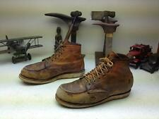 DISTRESSED TAN RED WING LEATHER ENGINEER LACE UP PACKER WORK CHORE BOOTS 10.5 EE