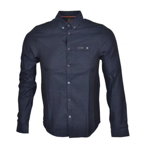 Luke 1977 Mens Harvey Long Sleeve Formal Dress Casual Smart Shirt New Size S XL