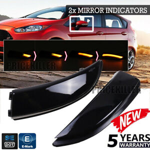 Dynamic-Amber-Turn-Signal-LED-Side-Mirror-Indicator-Lights-For-Ford-Fiesta-B-Max