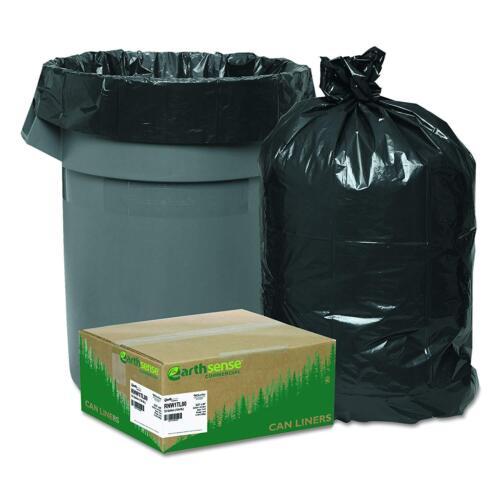 Recycled Large Trash and Yard Garbag Bags Kitchen Waste 33gal 9mil 80 Pack Black