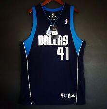 100% Authentic Adidas Dirk Nowitzki Mavericks NBA Jersey Size 44 L