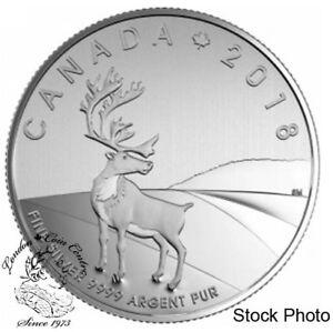 Canada-2018-3-Caribou-Fine-Silver-Coin-in-Card