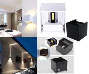Applique led cubo lampada da parete w luce regolabile