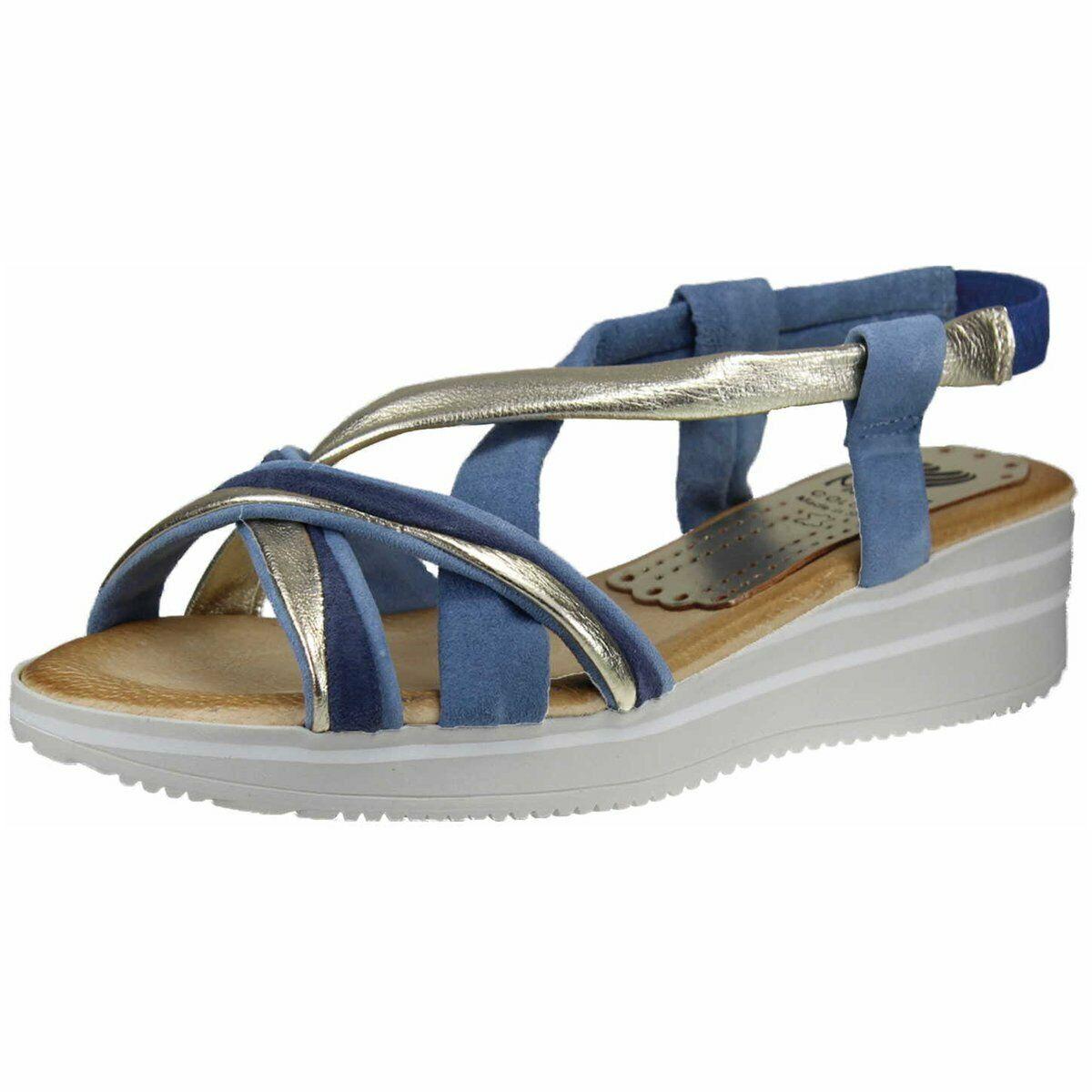 Marila Damen Sandaletten multiBlau (blau-hellGold) 615S LU-25 blau 681099
