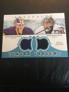 2012-13-UD-Artifacts-Tundra-Tandems-Jersey-Bernier-Quick-Los-Angeles-Kings