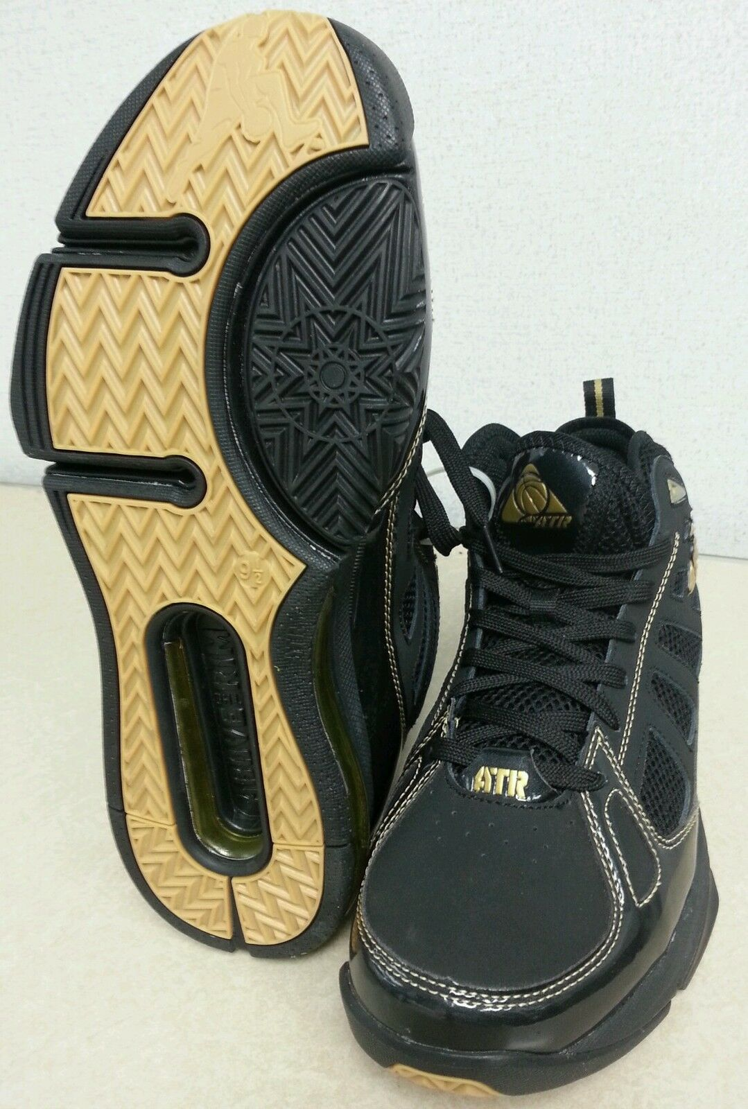 Vintage, rare !!!!!  above the rim shoes, black and gold ...tupac Jordan Kobe Seasonal price cuts, discount benefits
