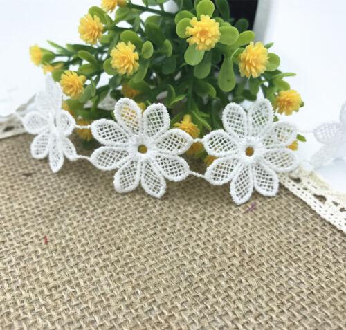 DIY 100 Blumen Lace Trim Handwerk Appliques Dekoration Kleidung Startseite 35mm