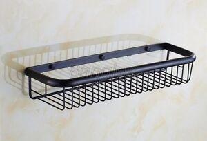 Black-Oil-Rubbed-Brass-Bath-Wall-Mounted-Shower-Storage-Shelving-Rack-8ba064