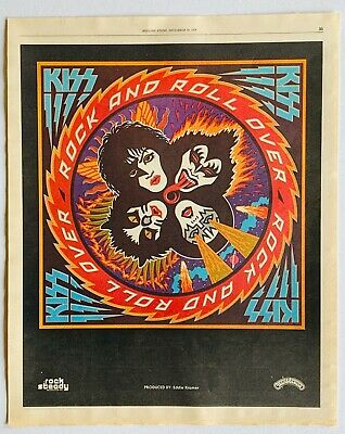 Kiss 1976 Vintage Promo Advert Rock And Roll Over Ebay