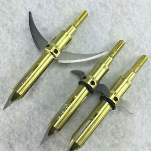 Sporting Goods Points & Arrowheads Hearty 100grain 24pcs Gold Hunting Archery Arrowheads Broadheads Fishing Tips Durable In Use