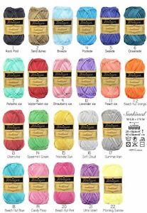 Neu Scheepjes Sunkissed 100 Cotton Patchwork Amigurumi Wolle