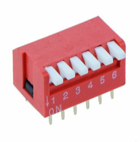 6-way Pianoforte Dip Switch Dil Rosso PCB