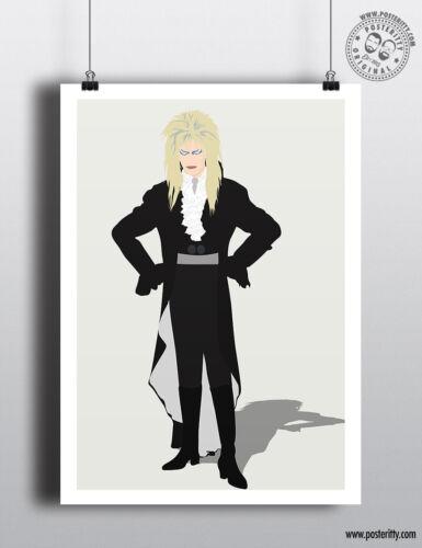 Jareth Minimalist Poster Minimal Print Labyrinth Goblin Kings Art DAVID BOWIE