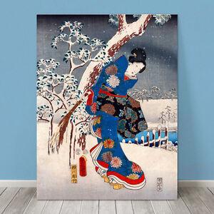 Details about Beautiful Japanese GEISHA Art ~ CANVAS PRINT 8x10