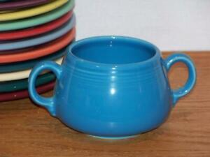 Fiesta-PEACOCK-Small-Sugar-Bowl-Figure-8-Sugar-Body-Discontinued-Color