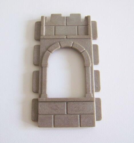L3129 PLAYMOBIL Mur Gris Foncé Fenêtre Vintage 3444 3447 3448 3450 MOYEN-AGE