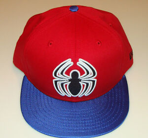 c0d0a5dc Details about Spiderman New Era Cap Hat Viza Fill Snapback OSFM M/L DC  9Fifty Logo Red Blue