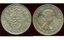 ROYAUME UNI  one shilling 1958 ( rev  SCOTTISH  )