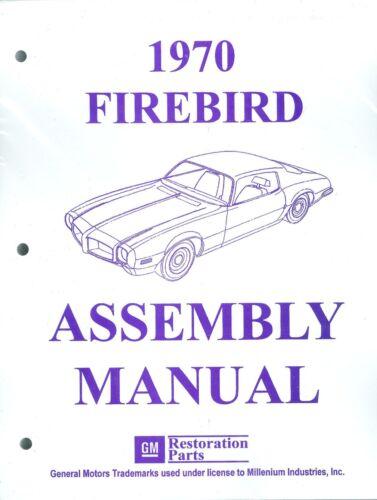 1970  FIREBIRD ASSEMBLY MANUAL