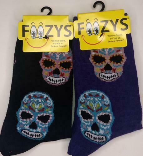 Day of the Dead Muerte Muerto Skulls ~ By Crazy Awesom Socks ~ Choice 1 or 2 Pai