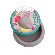 Moulin Roty les pachats Cerámica Caja de dientes de leche con una tapa de ratón wyestyles