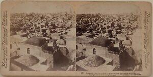 Gerusalemme La Ville Da Zion Foto Stereo Vintage Albumina 1896
