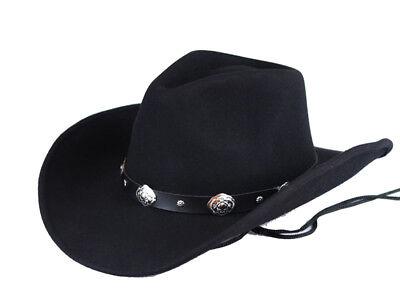 100/% Woolfelt  Derby Hat Bowler Hats Black Men's  Woman/'s Unisex