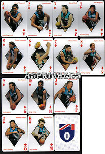 1998-Port-Adelaide-POWER-Football-Club-SET-of-13-AFL-Footy-Stars-Playing-Cards-1