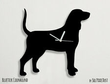Bluetick Coonhound Dog Silhouette - Wall Clock