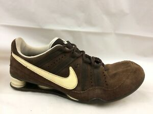 10a31e1ab72 Nike Shox Womens 8 M Brown Suede Leather Sneaker Shoe Running ...