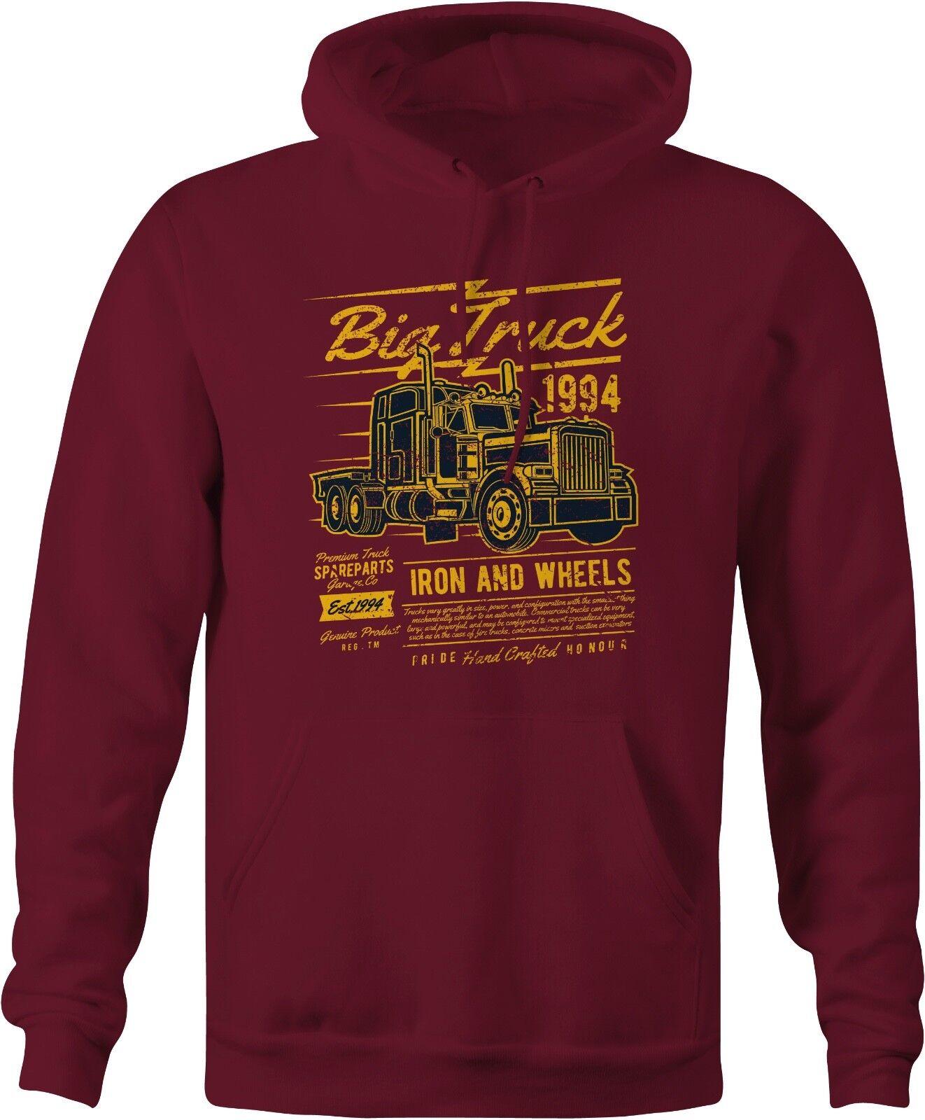American Big Truck Retro Hoody. Kenworth, Peterbilt, Mack