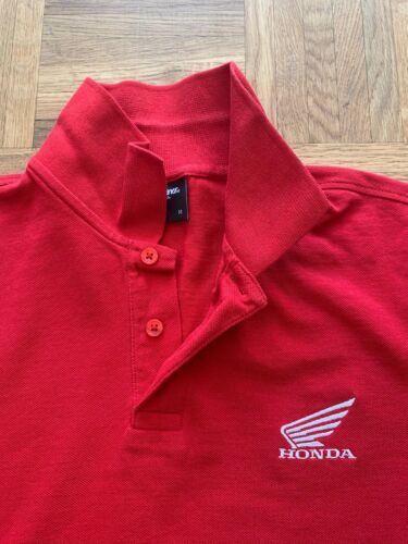 Rot Polohemd mit Honda Logo Größe M sehr guter Zustand