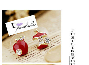 Red-apple-earrings