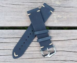 22mm-Genuine-Leather-Watch-Band-Strap-Handmade-fits-ALL-BRANDS-Rolex-Tudor-Sub