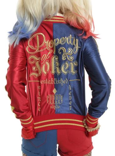 Topic Quinn Hot Broderet Nwt Cosplay størrelser Alle selvmordskamp Harley Jacket EqYw0vx