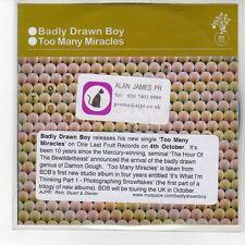 (EQ6) Badly Drawn Boy, Too Many Miracles  - DJ CD