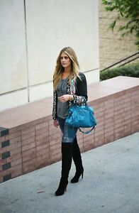 7f4daac2425ab2 Details about Sam Edelman Kayla Over-the-Knee Boots Suede Black 7.5 M US