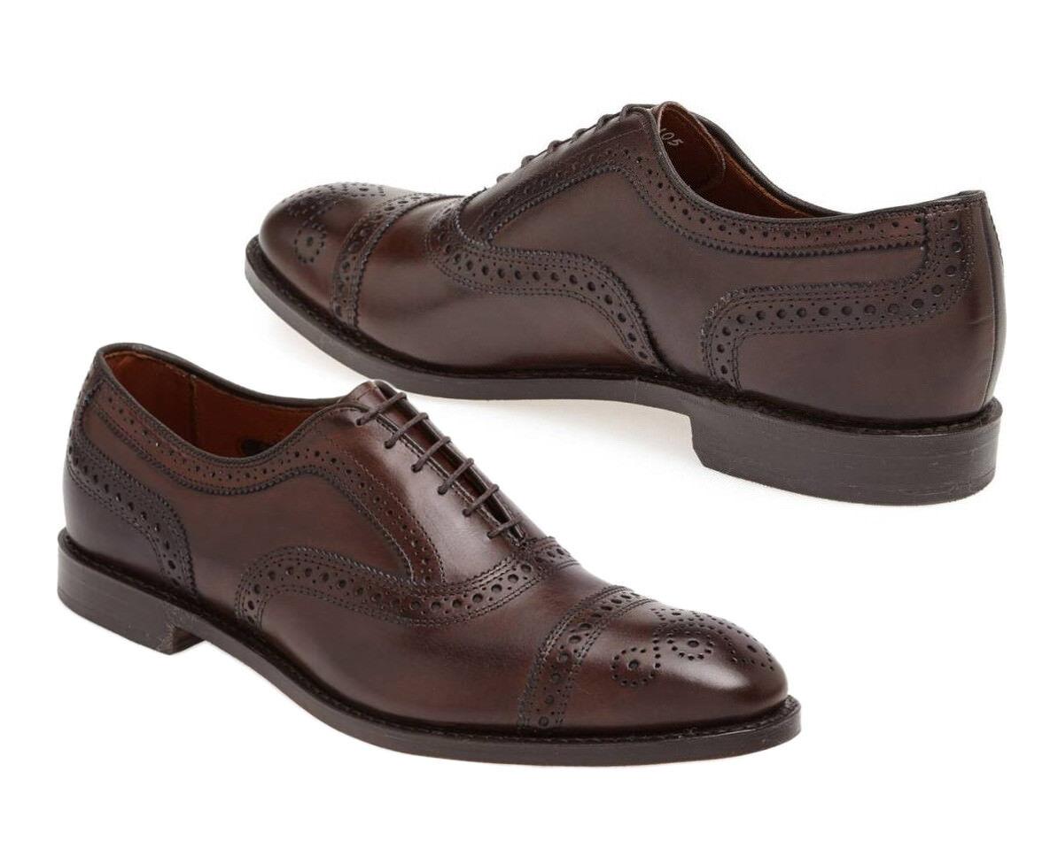 93342e3f895 Marrón Cuero Calado, Puntera Zapatos marróns, vestido de Inglaterra zapatos  de oficina hombre hecho a mano de vwrdny7022-zapatos nuevos