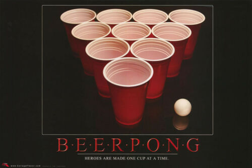 POSTER BEER PONG                 FREE SHIPPING RW8 F COMICAL