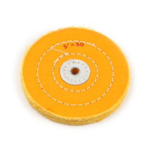 2Pcs 5 Inch Cotton Cloth Buffing Wheels Abrasive Pad For Wood Metal Polishing