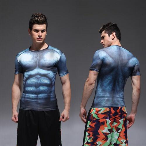Men/'s 3D Comics Superhero  Costume T-Shirts Short Long Sports Top Cycling Jersey