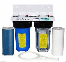 "10""x4.5"" BB Big Blue Whole House WaterFilter System For Home, Well Water supply"