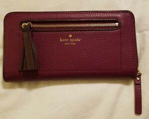 Kate-Spade-Maroon-Burgundy-Wallet