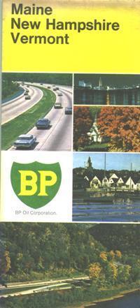1971 BP Maine//New Hampshire//Vermont Vintage Road Map