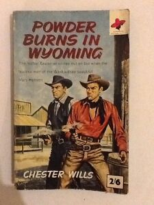 Powder burns in Wyoming Chester Wills western paperback 1962 - <span itemprop='availableAtOrFrom'>Eye, Suffolk, United Kingdom</span> - Powder burns in Wyoming Chester Wills western paperback 1962 - Eye, Suffolk, United Kingdom