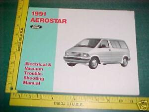 ford aerostar wiring troubleshooting manual evtm ebay