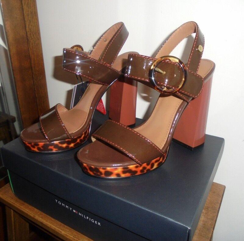 tommy hilfiger mesdames talons sandale paris léopard taille uk6 uk6 uk6 29a288
