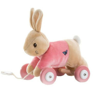 Flopsy-Bunny-or-Peter-Rabbit-Pull-Along-Soft-Toy-Baby-Gift-FAST-DISPATCH