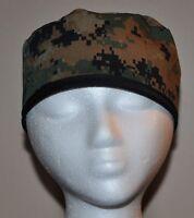 Digital Camo (USMC/Marine Corps Camo) Men's Scrub Cap/Hat - One size fits most