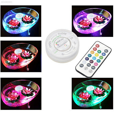 F04F LED RGB Submersible Vase Hookah Light Lamp IP68 Waterproof Wedding Decor